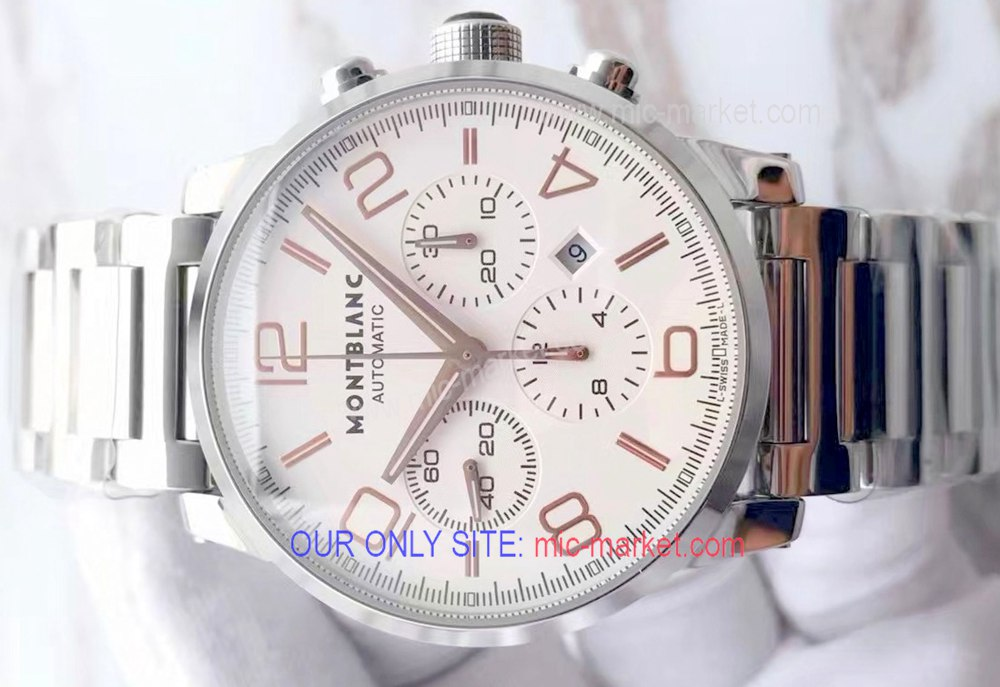 Replica Mont blanc Timewalker Rose Gold Arabic Watch 43mm